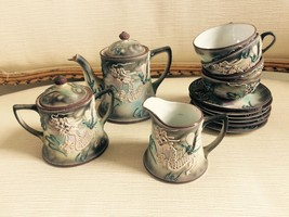 MADE IN JAPAN Porcelaine Decorated Painted Tea Set Vintage - $287.04