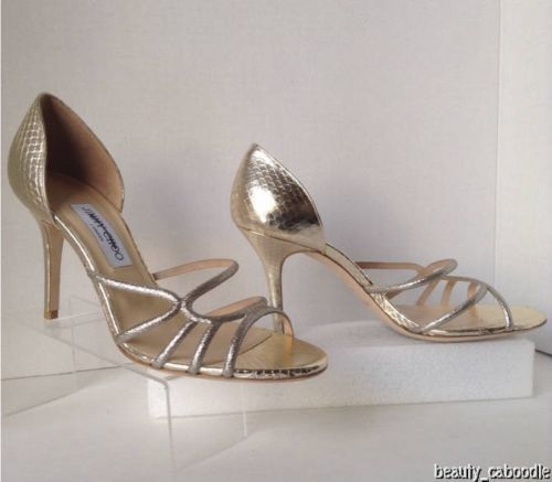 NEW Authentic JIMMY CHOO Straits D'Orsay Gold Sandals (Size 40.5) - MSRP $795.00 image 8