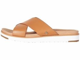 UGG Kari Natural Women's Leather Crisscross Slip On Sandal 1094874 - $95.00