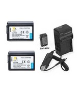 2X Batteries + Charger for Sony SLT-A37 ILCE7R/B ILCE-7 ILCE-7R A3000 IL... - $44.78