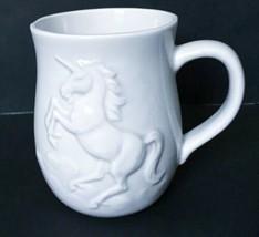 Vtg Otagiri Unicorn Coffee Mug Cup White 3D Rare Mythical Mystical Horned Horse - $27.71