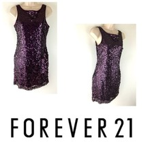 Forever 21 Jr Women Size Small Full Sequin Short Dress Sleeveless Evenin... - $19.79