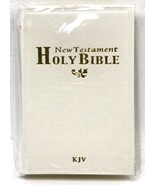 Holy Bible New Testament Mini Pocket 4.5 inch King James Version White New - $7.91