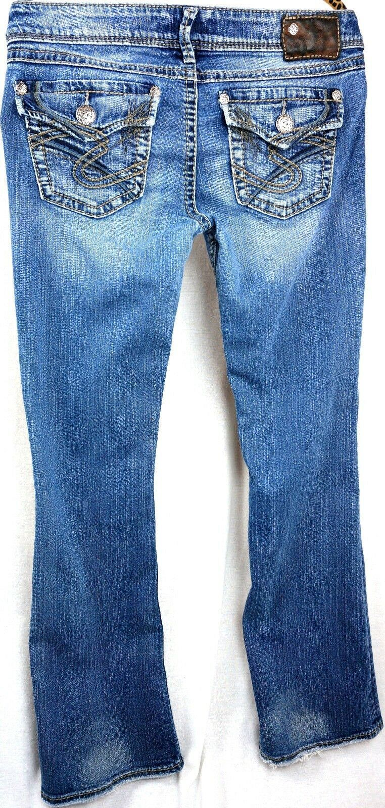 Primary image for Silver Jeans Size 28 x30 Pioneer Womens Bootcut Low Rise Medium Wash Pants