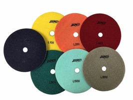 Zered PP4-L 7in. Diamond Polishing Pads for Granite, Marble and Stone - $22.77 - $138.60