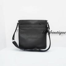 NWT New Coach F54780 Men's Charles Crossbody Bag Zip Calf Leather Black ... - $112.95
