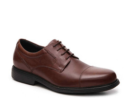 Rockport V80557 Charlesroad Captoe Men's Tan Ii Leather Oxford - $78.99