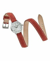 Lucky Brand Women's Torrey Mini Rust Red Suede Leather Wrap Strap Watch 28mm NEW - $47.49