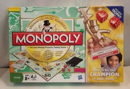 Monopoly Championship Trophy Edition Board Game 2009 Parker Bros Complete  - $14.49