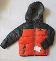 NWT Carter's Toddler Boy Cute Hooded Winter Jacket Gray Orange Puff Coat... - $49.00
