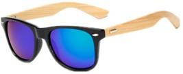 Shiratori Prevent Radiation Classic Bamboo Wood Sunglasses Green - $20.18