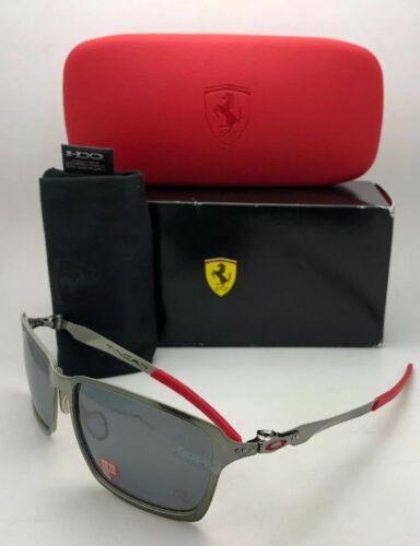 Polarisiert Oakley Sonnenbrille Scuderia Ferrari Tincan OO4082-09 Schwarz Chrom image 6