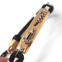 Gold Bracelet Pink White 18K 750, Spinel Black, Anchor Shaped, Cord Nautical image 1