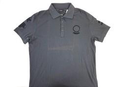 NWT DIESEL Men's Dark Gray T-Demet Short Sleeve Polo Shirt w Felt Patche... - $34.03
