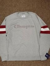 NWT Champion Powerblend Athleticwear Gray Crewneck Sweatshirt XL New Wit... - $39.59