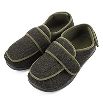 Men's Extra Extra Wide Width Adjustable Slippers Edema, Diabetic Extra L... - $64.80