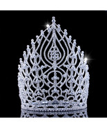 21.5cm 8.4in Height Rhinestone Pageant Crowns Alloy Large Tiaras And Cro... - $78.74