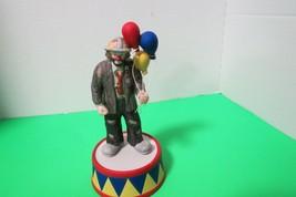 "Flambro Emmett Kelly Clown Balloons San Francisco Music Box Co 7 1/4"" Video - $32.66"