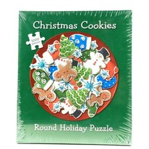 Current Puzzle 1000 Pieces Round Holiday Puzzle Christmas Cookies - $32.41