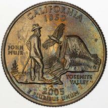 2005-P CALIFORNIA STATE QUARTER STRIKING CHOICE UNC BU TONED COLOR GEM (DR) - $34.64