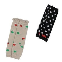 Set of 2 Cartoon Dot&Bugs Baby Leg Wamers Comfy Cotton Toddler Leg Guards,1-5Yrs