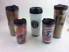 LOT OF STARBUCKS  FIVE Used TUMBLERS With Lids - $18.69