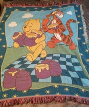 Vintage Beacon Winnie The Pooh And Tigger Too Disney Throw Blanket Made ... - $97.99