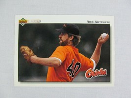 Rick Sutcliffe Baltimore Orioles 1992 Upper Deck Baseball Card 708 - $0.98