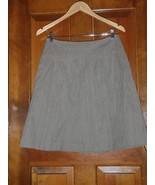 CAbi Womens Liverpool Riding Skirt Size 2 Cotton Pleated Knee Length Lin... - $23.15