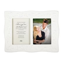 Lenox Opal Innocence Carved Double Invitation Frame, 5 by 7-Inch - $108.89
