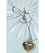 "14k Diamond Strap Puffy Heart Necklace Charm 2 Tone Gold 16"" Vintage Huge - $544.49"