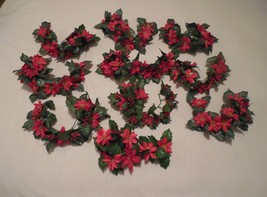10 christmas candle decor, poinsettia candle decoration, holiday greenery - $25.00