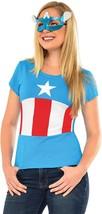 American Dream Shirt Mask Marvel Captain America Fancy Dress Halloween Costume - $23.66