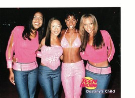 Destiny's Child teen magazine pinup clipping rare all 4 cute in pink 1990's Bop