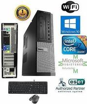 Dell 990  PC DESKTOP Intel i7 2600 3.40g 8GB 120gb SSD Windows 10 HP 64Bit  - $438.58