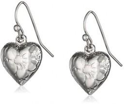 1928 Jewelry Silver Heart Charm Earrings - $30.42