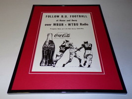 1966 Coca Cola / Boston U Football 11x14 Framed ORIGINAL Vintage Advertisement - $46.39