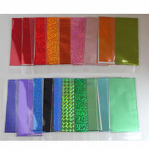 60 Colors Nail Art Tips Wraps Transfer Foil A* US SELLER * BUY2GET1FREE image 4