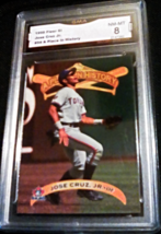 1998 fleer sports illustrated jose cruz jr GMA Graded 8 NM-MT  baseball card 54  - $7.75