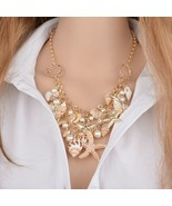 Mele Tropical Beach Chain Necklace Shell & Pearl & Starfish Gold Trend - $13.98