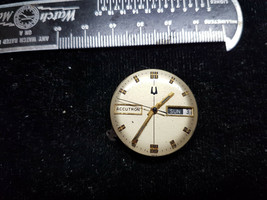 1973 BULOVA ACCUTRON 2182 WATCH MOVEMENT + DIAL ONLY FOR REPAIR PARTS VI... - $67.73