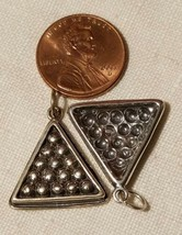 Sterling Silver 8 Ball Charm Pendant Billiard Jewelry image 2
