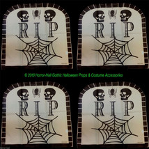 Haunted House-RIP TOMBSTONE CHAIR COVERS-Over the Hill Birthday Decorati... - $11.85