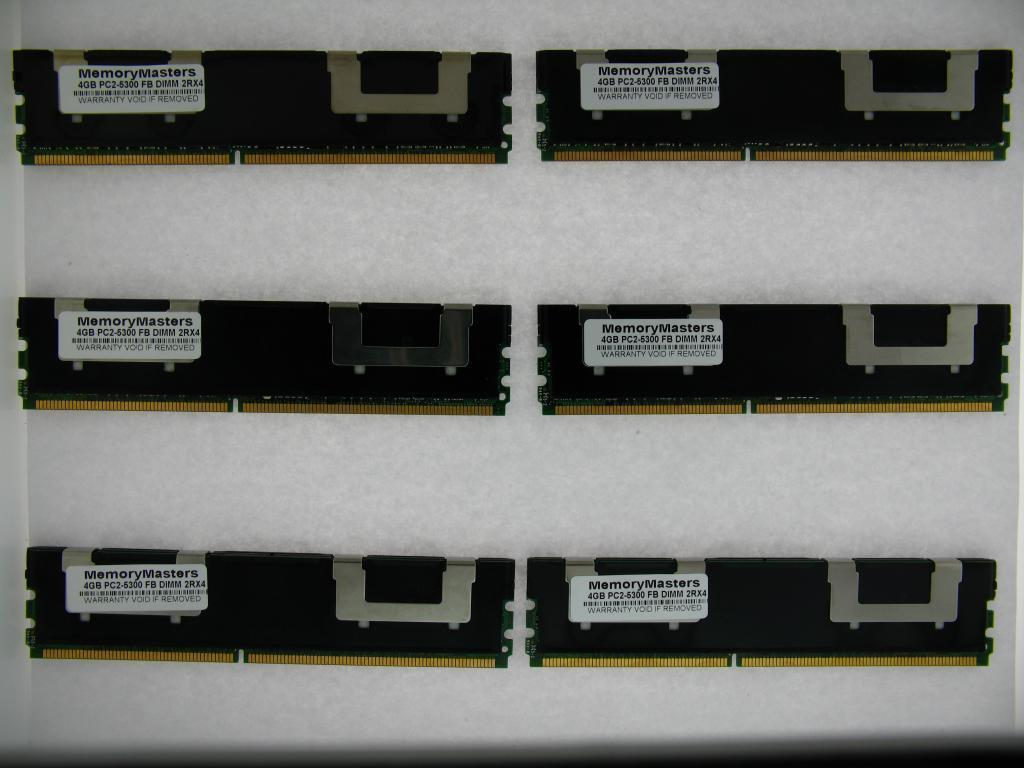 4GB DDR2 667 MHZ PC2 5300 FBDIMM 2 RANK SERVER MEMORY MAJOR BRANDS