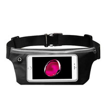 Waist Band Fanny Pack Phone Holder Black fits Zte Max Pro - $12.86