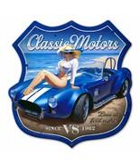 Classic Motors Shield by Greg Hildebrandt Metal Sign - $39.95