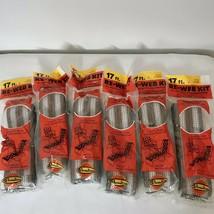 Lot of 6 vintage Re-Web Kit 2 3/16 inch Polypropylene Brown 102 ft total - $33.19