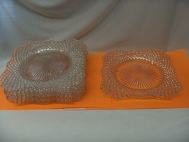 "5 Vntg Westmoreland Clear Depression Glass English Hobnail 7.50"" Square ... - $94.05"