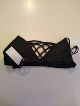 Bloomingdales American Black Bikini Top Size Large image 2