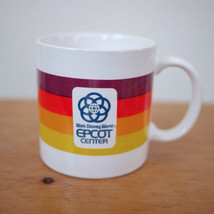 Vintage 1982 Walt Disney World Epcot Center Coffee Mug Rainbow Stripe Japan Tea - $19.99
